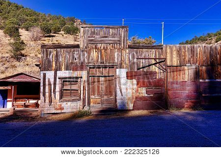 Mogollon, USA, 2017.11.25.: An old building in Mogollon ghost town in the USA.