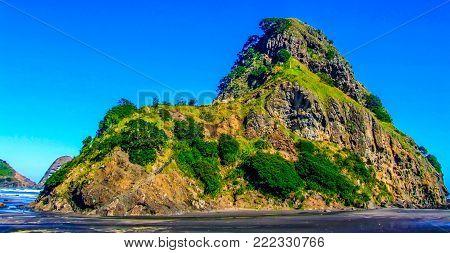 Lion rock, Piha Beach, auckland, New Zealand