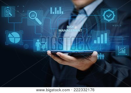 Risk Management Strategy Plan Finance Investment Internet Business Technology Concept.
