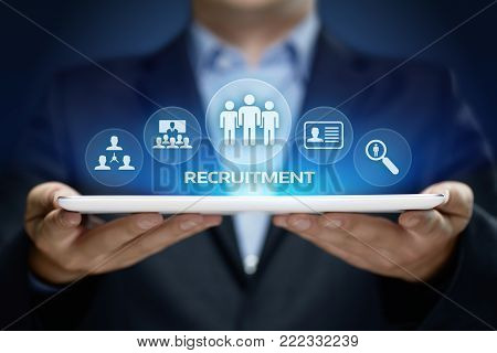 Recruitment Career Employee Interview Business HR Human Resources concept.