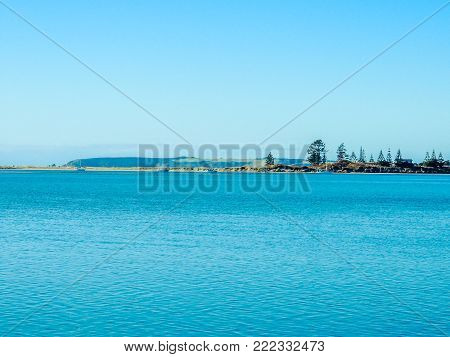 Island in the distance, Goat Island, New Zealand