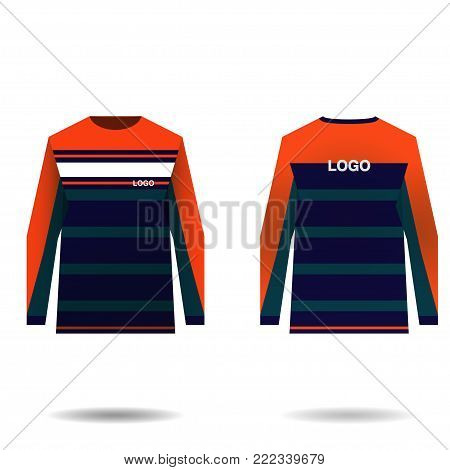 Jersey design for extreme cycling. Mountain bike jersey. Vector illustration for sublimation printing.