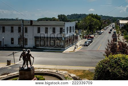 Hannibal, Missouri - July 25, 2017 - The small town of Hannibal, Missouri which was the home of the famed Tom Sawyer character.