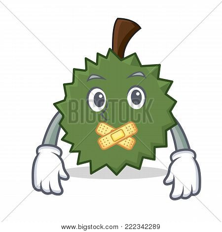 Silent Durian mascot cartoon style vector illustration