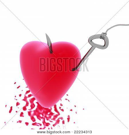 Heart on a hook