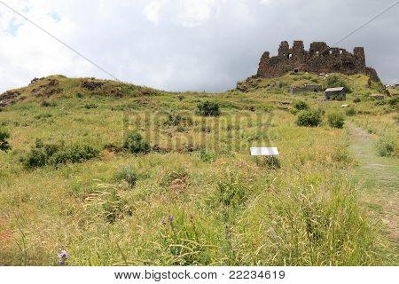 Fortress of Amberd near Mt. Aragats Armenia poster