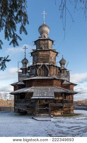 Wooden Transfiguration Church. Suzdal. Russia.
