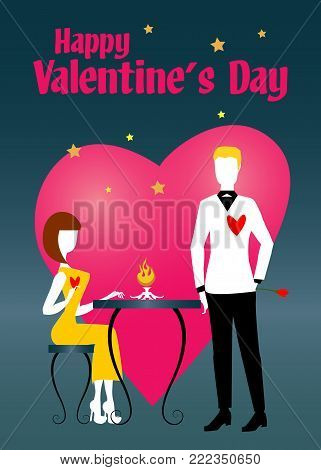S. Valentine's Lovers Waiting For Dinner