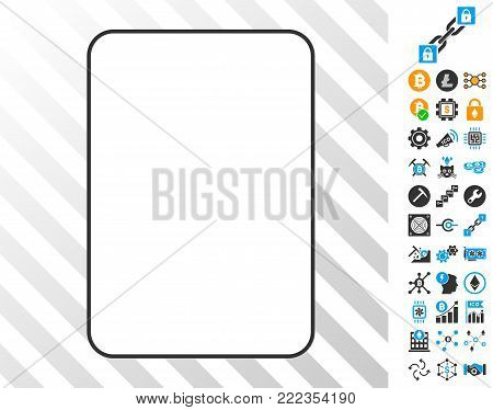 Palying Card Template playing cards icon with bonus bitcoin mining and blockchain pictograms. Flat vector pictures for cryptocurrency toolbars.