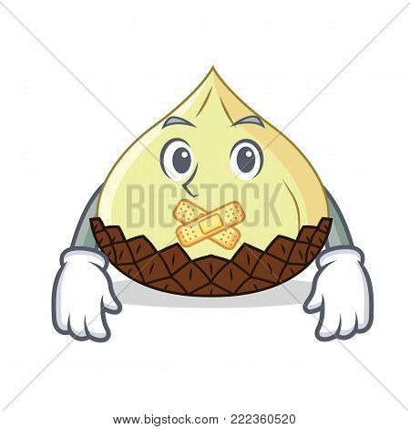 Silent snake fruit mascot cartoon vector illustration