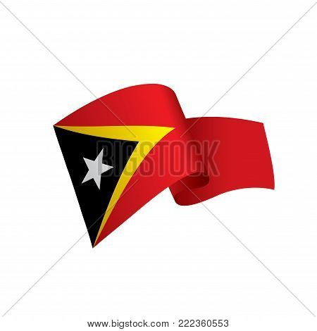 east timor flag, vector illustration on a white background