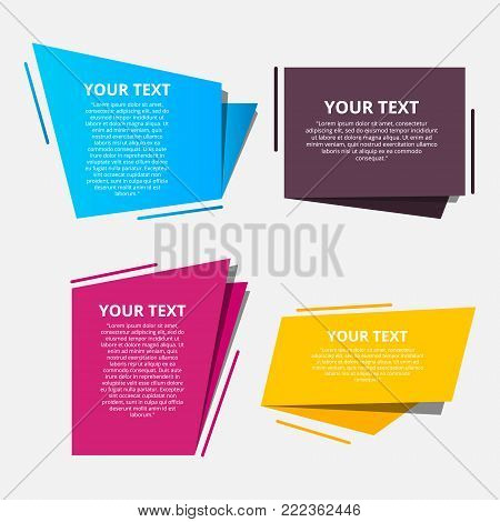 Style text templates origami for banner Vector abstract geometric origami
