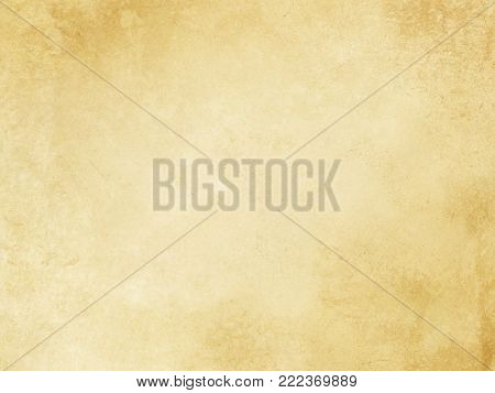 Aged dirty and yellowed paper background or texture for the design. Grunge paper.