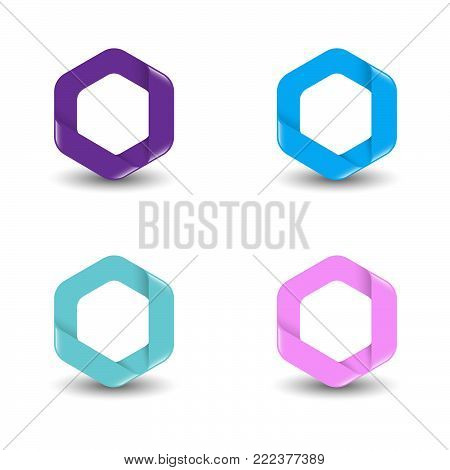 Hexagon - Vector logo concept illustration. Hexagon geometric polygonal logo. Hexagon abstract logo. Vector logo template. Design element.