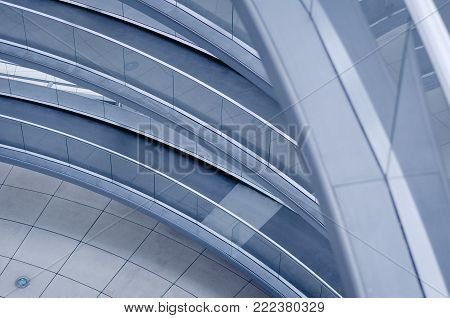 BERLIN, GERMANY - 11 AUG 2012: an Helicoidal ramp inside the Parliament building's transparent cupola in Berlin, Germany.