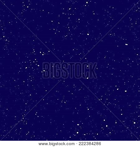 Starry seamless pattern, splashed hand draw universe and galaxy repeatable pattern. Dots, spray paint on dark background, vector universe seamless background. Starry night sky, vector repeats