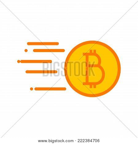 Simple Bitcoin Quick Sending Vector Illustration Graphic Design
