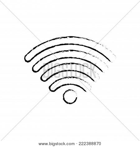 Wifi of internet technology and communication theme Isolated design Vector illustration