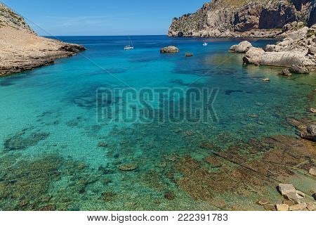 Palma de Mallorca, Spain landscape, mountain lagoon. Palma de Mallorca, Spain the lagoon.