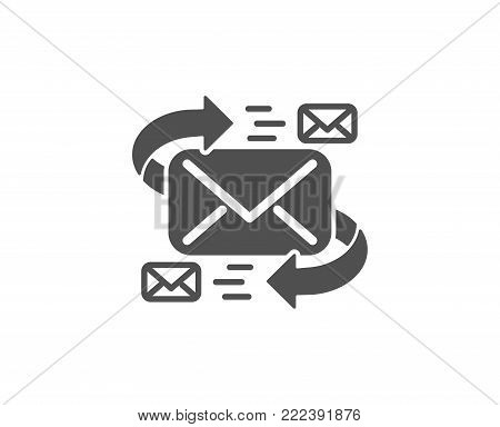 Mail simple icon. Communication by letters symbol. E-mail chat sign. Quality design elements. Classic style. Vector