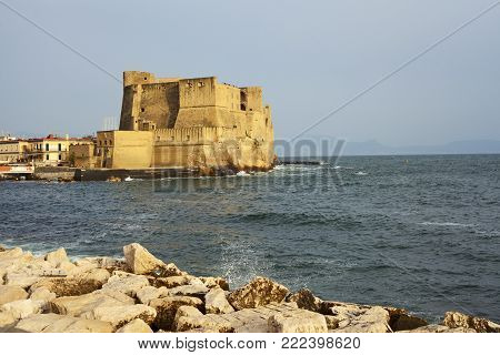amazing castel dell'Ovo view in the city of Naples