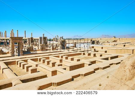 Persepolis archaeological site is one of the most popular landmarks of Iran, preserved since the ancient times.