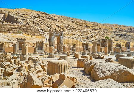 Persepolis Is The Unique Archaeological Site With Preserved Ruins Of The Largest Palace Complex In M