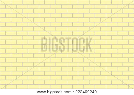 The vector illustration of seamless brick background.