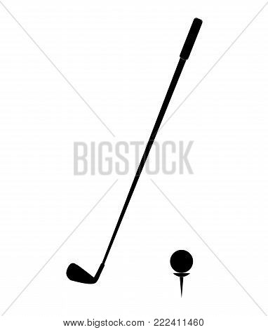 golf icon on white background. golf icon simple style. golf sign. ball and club sign. sports symbol.