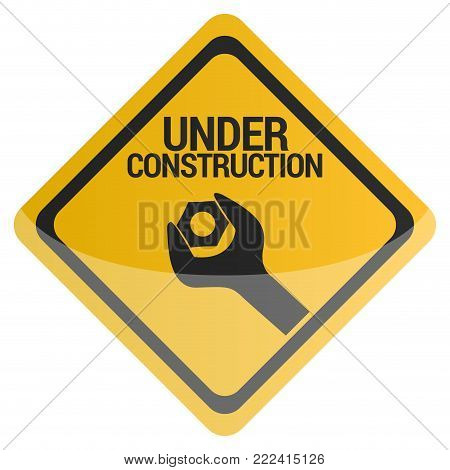 Under construction signal on a white background, Vector illustration