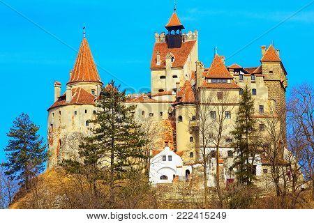Bran Castle, Transylvania, Romania, known for the story of Dracula - Vlad Tepes, Vlad the Impaler