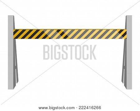 Traffic barricade on a white background, Vector illustration
