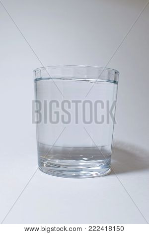 One small glass of cool clear water