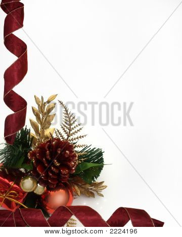 Red Ribbon Christmas Corner Design