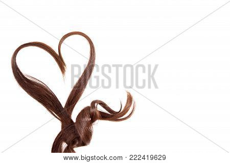 Hair Heart isolated on white. Hair Heart isolated on white.