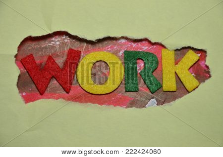 word work on an    abstract colored backgroun d
