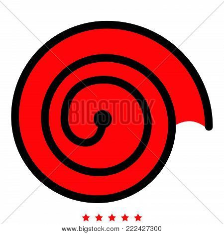 Spiral icon Illustration color fill simple style