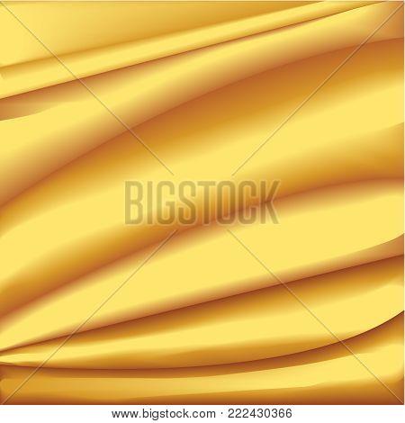 This illustration represents a golden silk drape.