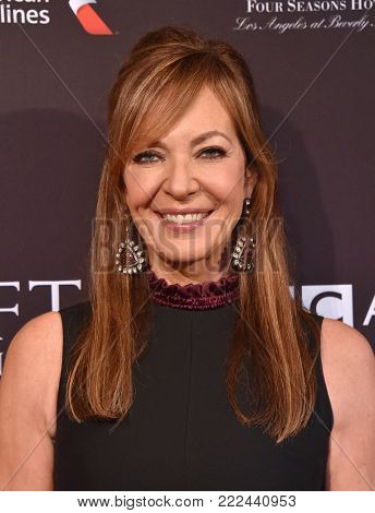 LOS ANGELES - JAN 06:  Allison Janney arrives for the BAFTA Tea Los Angeles on January 06, 2018 in Beverly Hills, CA