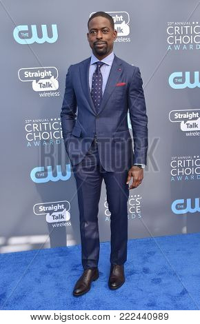 LOS ANGELES - JAN 11:  Sterling K. Brown arrives for the 23rd Annual Critics' Choice Awards on January 11, 2018 in Santa Monica, CA