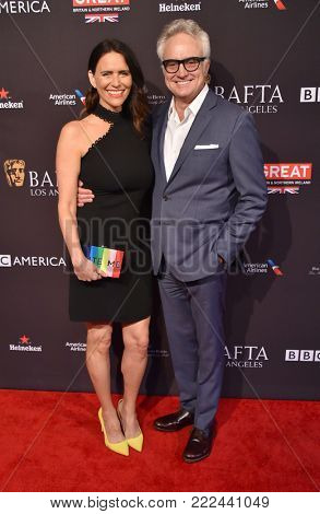 LOS ANGELES - JAN 06:  Amy Landecker and Bradley Whitford arrives for the BAFTA Tea Los Angeles on January 06, 2018 in Beverly Hills, CA