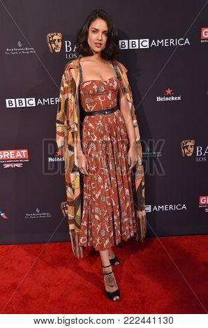 LOS ANGELES - JAN 06:  Eiza Gonzalez arrives for the BAFTA Tea Los Angeles on January 06, 2018 in Beverly Hills, CA