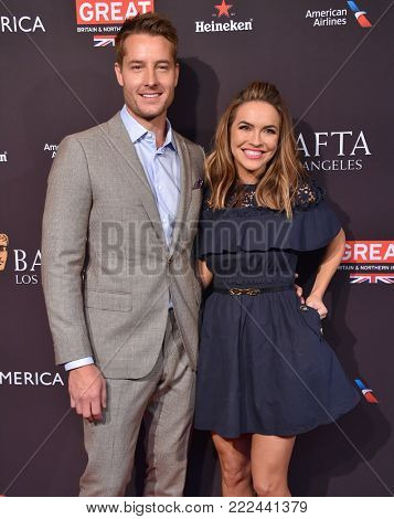 LOS ANGELES - JAN 06:  Justin Hartley and Chrishell Stause arrives for the BAFTA Tea Los Angeles on January 06, 2018 in Beverly Hills, CA