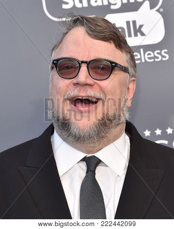LOS ANGELES - JAN 11:  Guillermo del Toro arrives for the 23rd Annual Critics' Choice Awards on January 11, 2018 in Santa Monica, CA