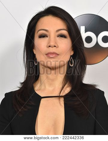 LOS ANGELES - JAN 08:  Ming-Na Wen arrives for the ABC Winter 2018 TCA Event on January 08, 2018 in Pasadena, CA