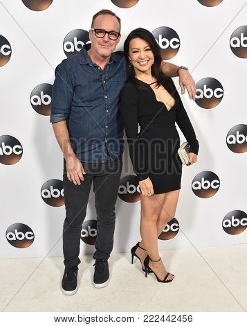 LOS ANGELES - JAN 08:  Clark Gregg and Ming-Na Wen arrives for the ABC Winter 2018 TCA Event on January 08, 2018 in Pasadena, CA