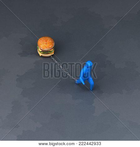 Burden symbol - 3D Illustration