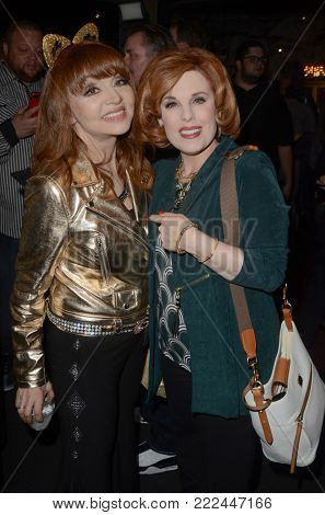 LOS ANGELES - JAN 10:  Judy Tenuta, Kat Kramer at the Batman '66 Retrospective and Batman Exhibit Opening Night at the Hollywood Museum on January 10, 2018 in Los Angeles, CA