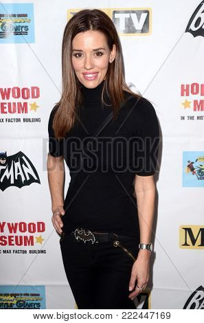 LOS ANGELES - JAN 10:  Laurie Oliver at the Batman '66 Retrospective and Batman Exhibit Opening Night at the Hollywood Museum on January 10, 2018 in Los Angeles, CA