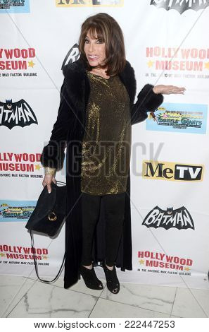 LOS ANGELES - JAN 10:  Kate Linder at the Batman '66 Retrospective and Batman Exhibit Opening Night at the Hollywood Museum on January 10, 2018 in Los Angeles, CA